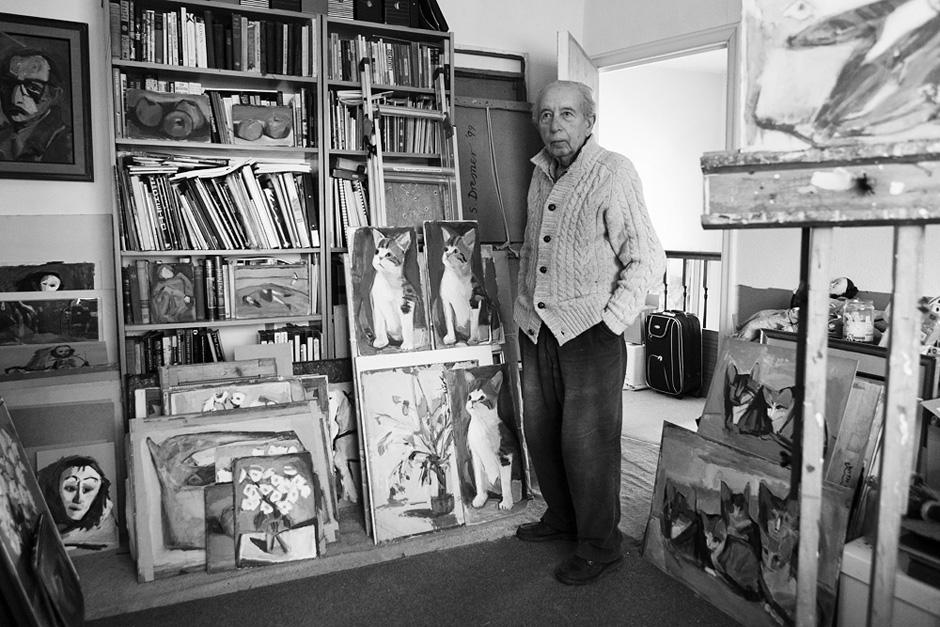 Šmuelis Dresneris savo studijoje. © Tadas Kazakevičius
