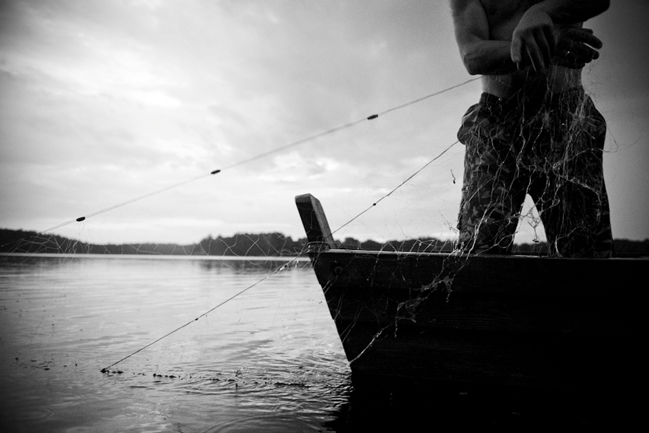 Tinklų statymas. © Karolis Kavolėlis