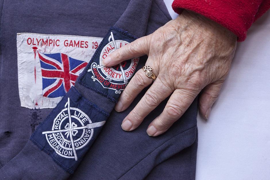 Ponios Ednos švarkelis, kurį ji gavo Olimpinių žaidynių metu. Nuo to laiko tai vienas labiausiai jos brangintų atminimų. © Tadas Kazakevičius