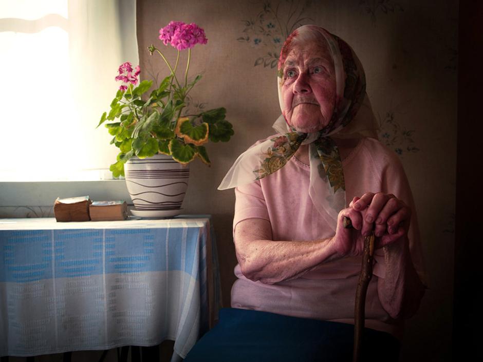 """Salagub Marija. Gimė 1920 m. Gyvena Ordėjos kaime, Baltarusijoje. ,,Mūsų būrio šūkis buvo – ,,Už Tėvynę!""""."""