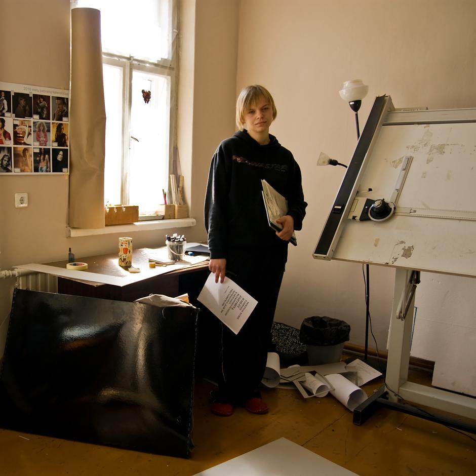 ...Dėstau dizainą. Iš pradžių nejauku buvo, kai  beveik bendraamžiai į paskaitas ateina, na, bet  susitvarkau. Taip ir savo studijom užsidirbu ir pragyvenimui... © Justė Šuminaitė