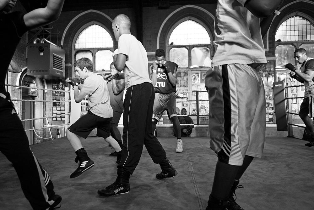 Šešėlinio boksavimosi technika. © Tadas Kazakevičius