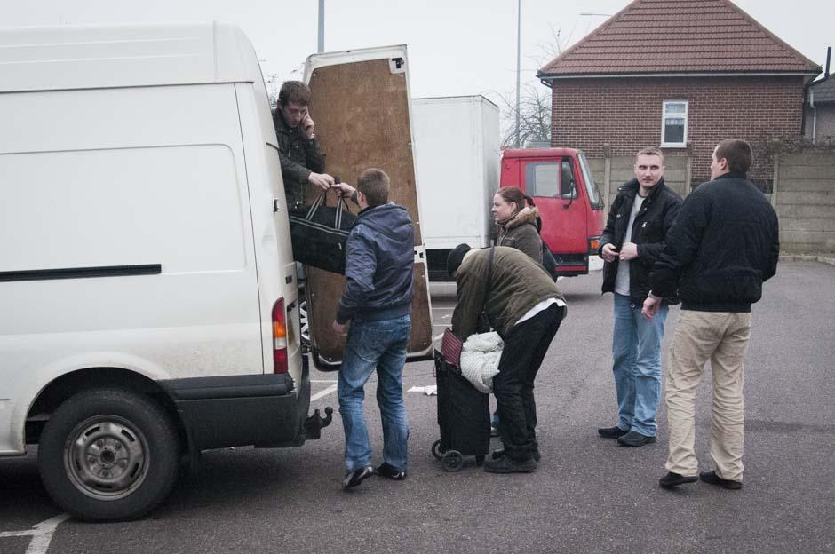 Atvykimas. 07:42 Rytų Londonas. Pigios darbo jėgos papildymas J.K. darbo rinkai. © Eugenijus Barzdžius