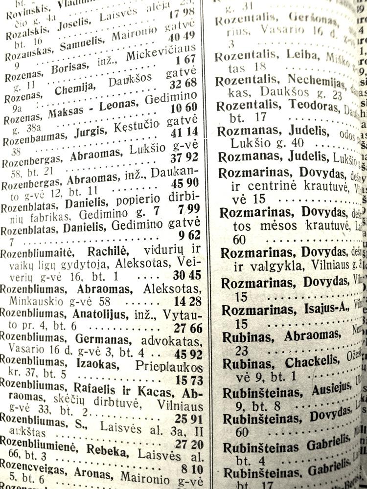 1935 metų Kauno miesto telefonų knyga. © Richard Schofield