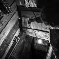 Getting inside deep dark basement with slippy ladders to take so