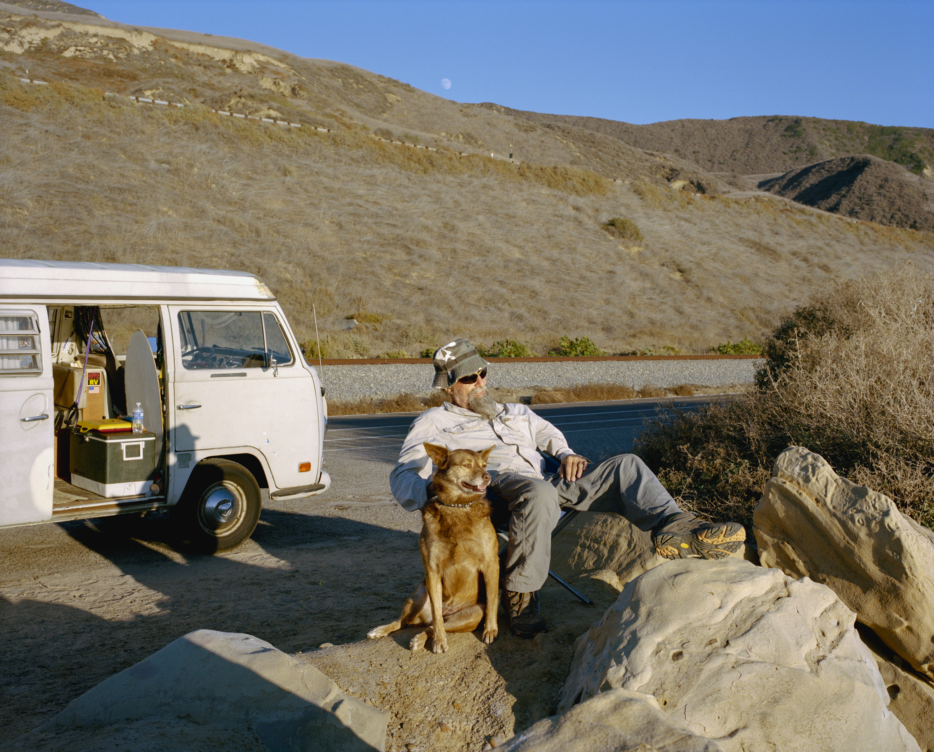 Anthony Sele with Lois, highway 1, California