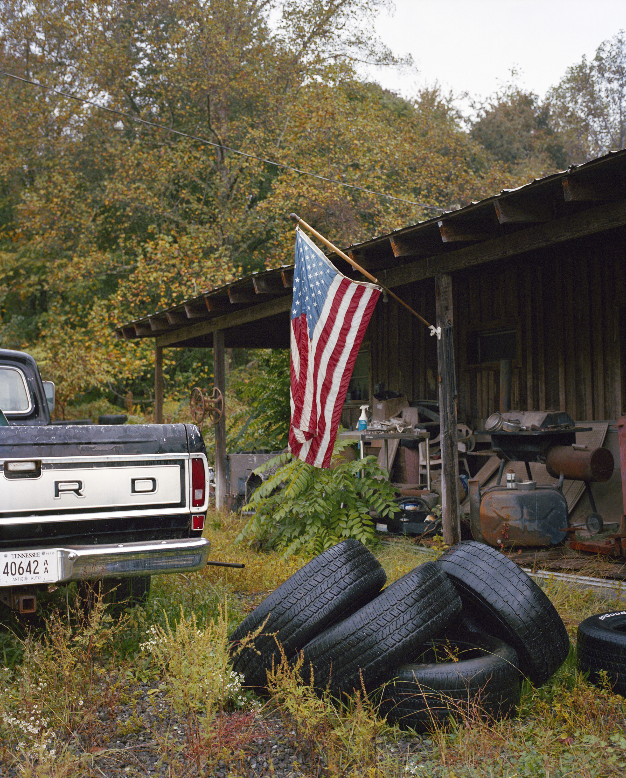 Classic car scrap yard, Tennessee