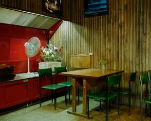 Interieur of an ex-Soviet canteen in Kaunas, Lithuania. September 2015