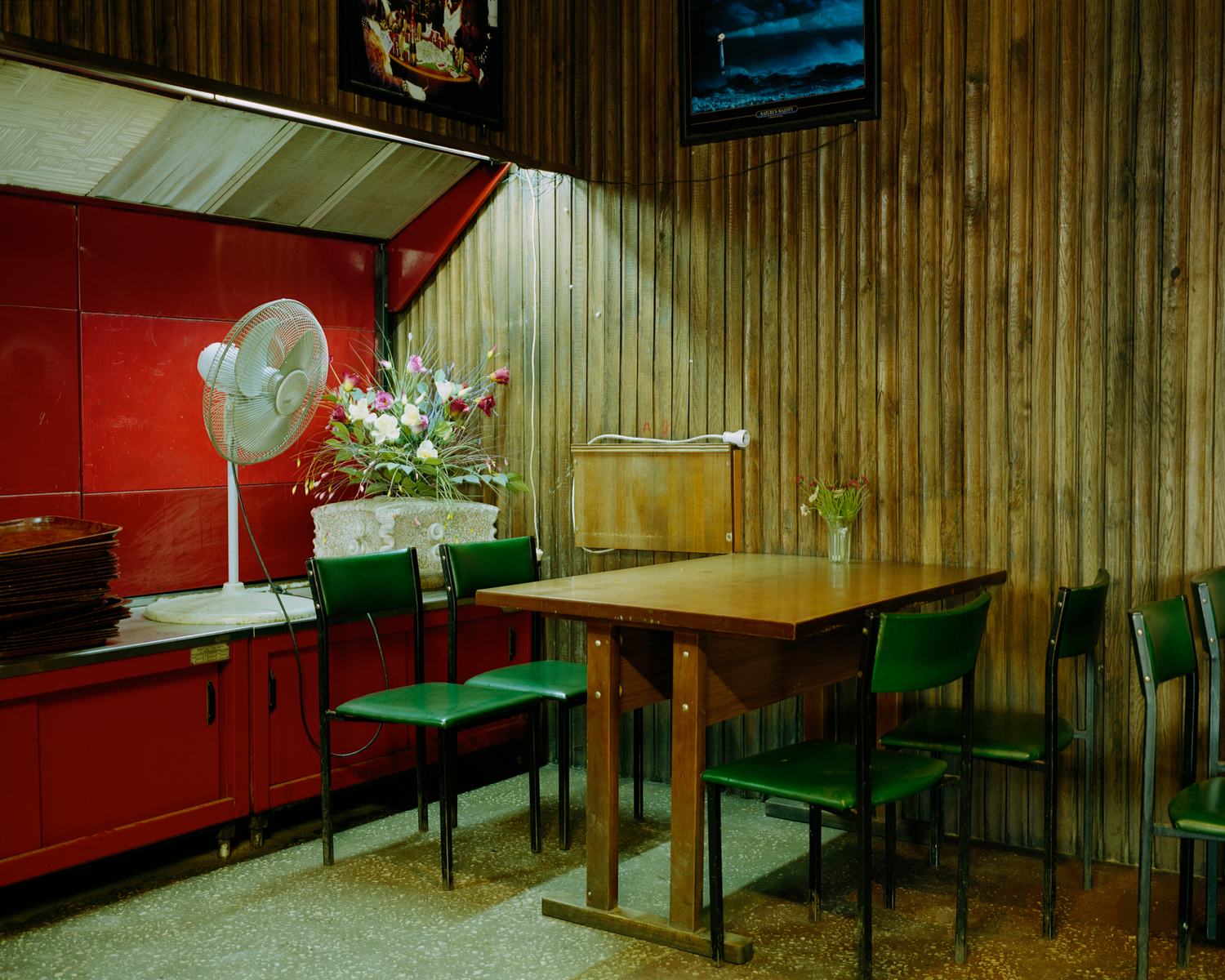 Interieur of an ex-Soviet canteen in Kaunas, Lithuania. September 2015