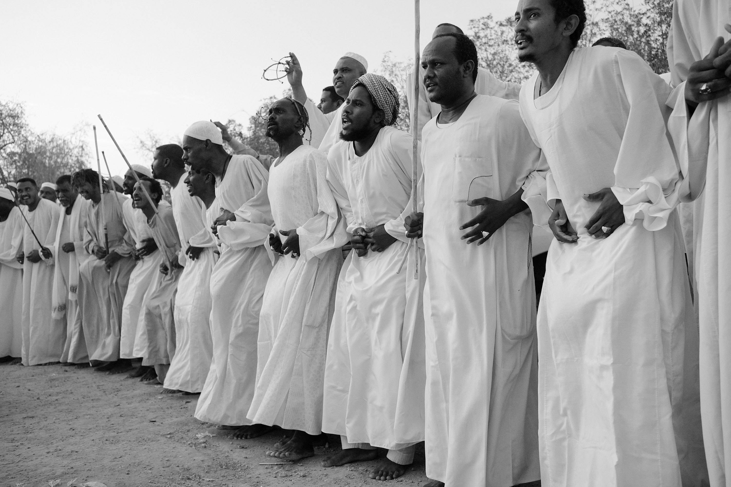04. People perform ''Zikr'' - a religious Sufi ritual that involves dancing and chanting Omdurman. Sudan. 2017