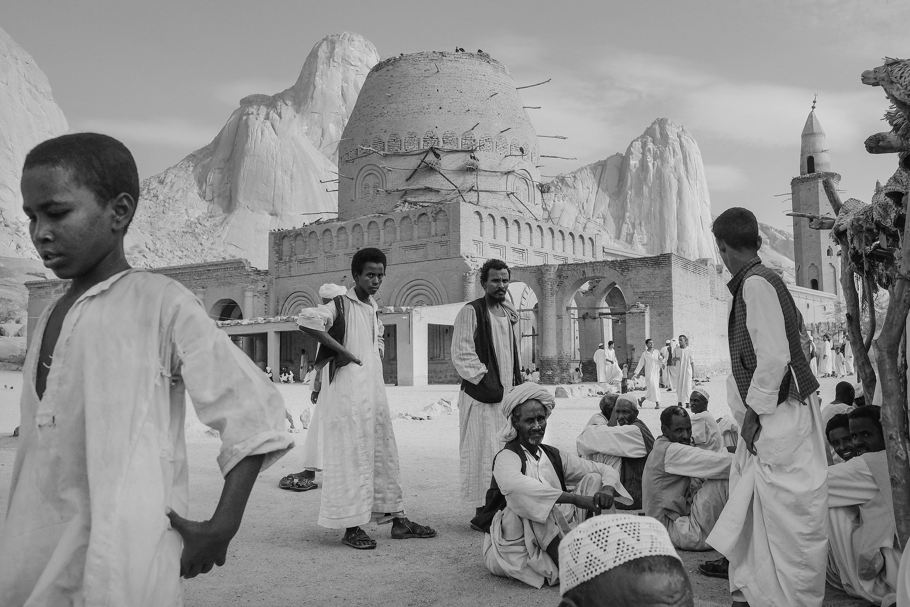 18. Khatmiya mosque with Taka mountais in the background. Kassala. Sudan. 2017