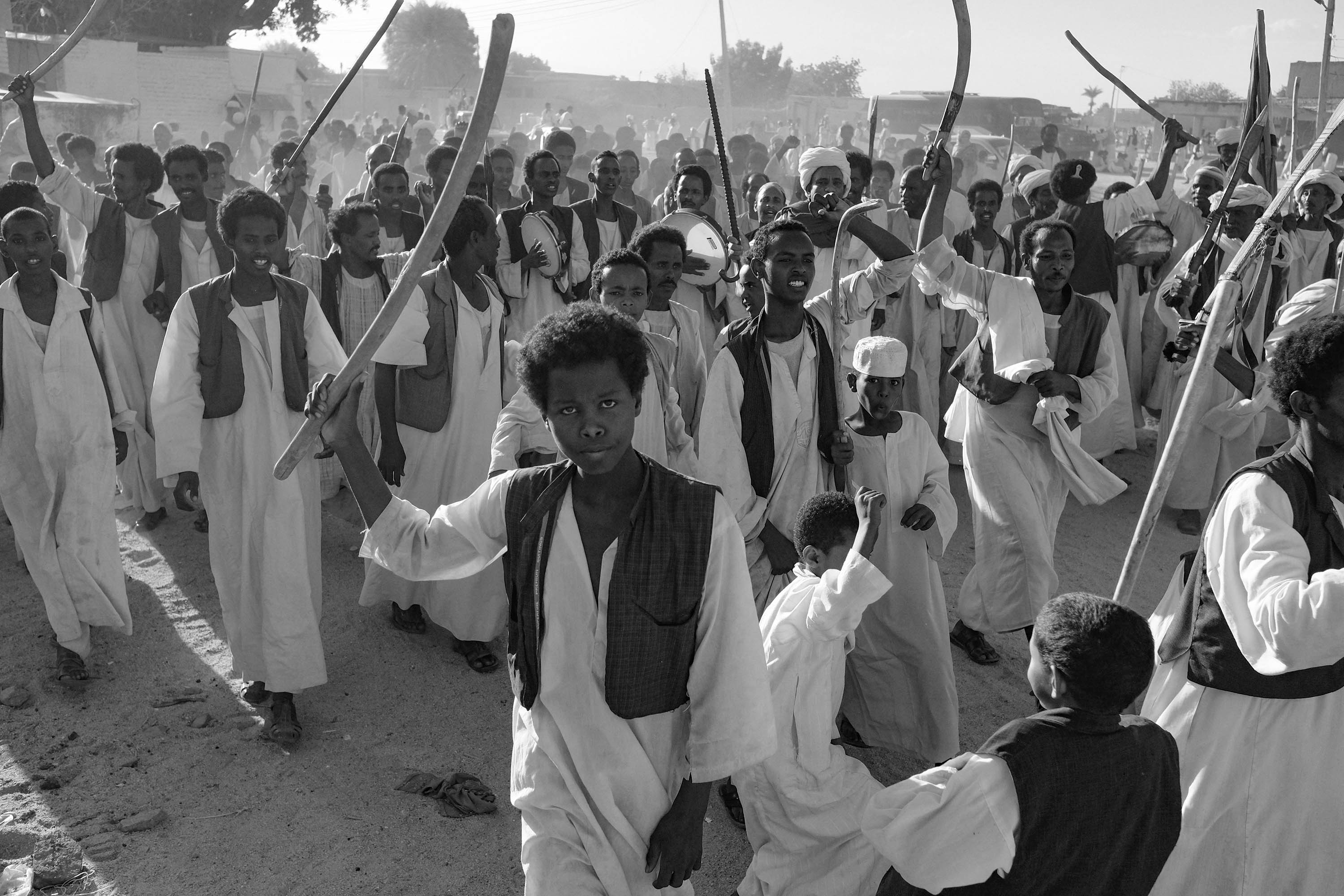 20. Different Sufi tribes arrive to a Sufi festival. Kassala. Sudan. 2017