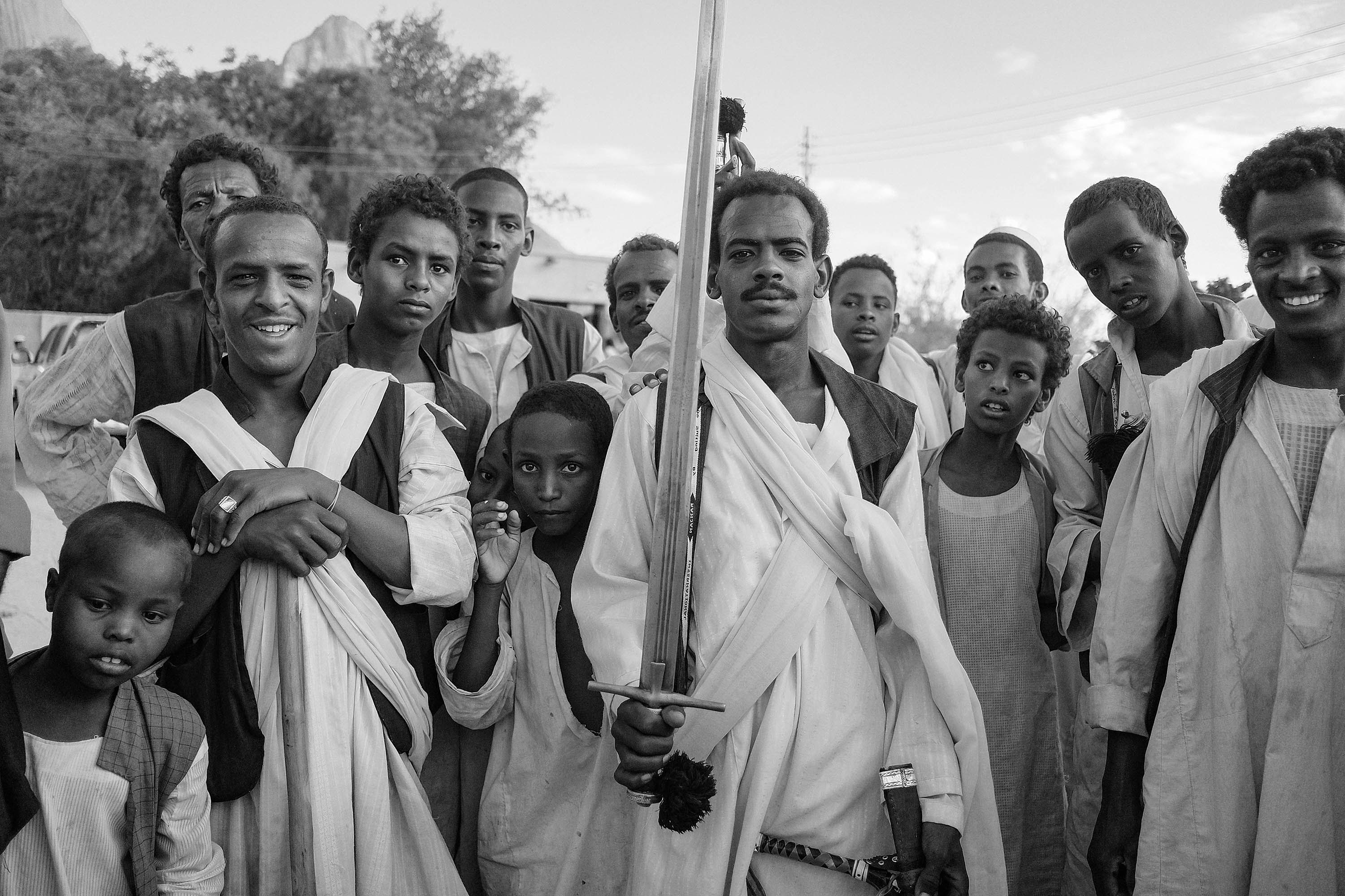 23. Sufi tribe shows off their traditional sword. Kassala. Sudan. 2017