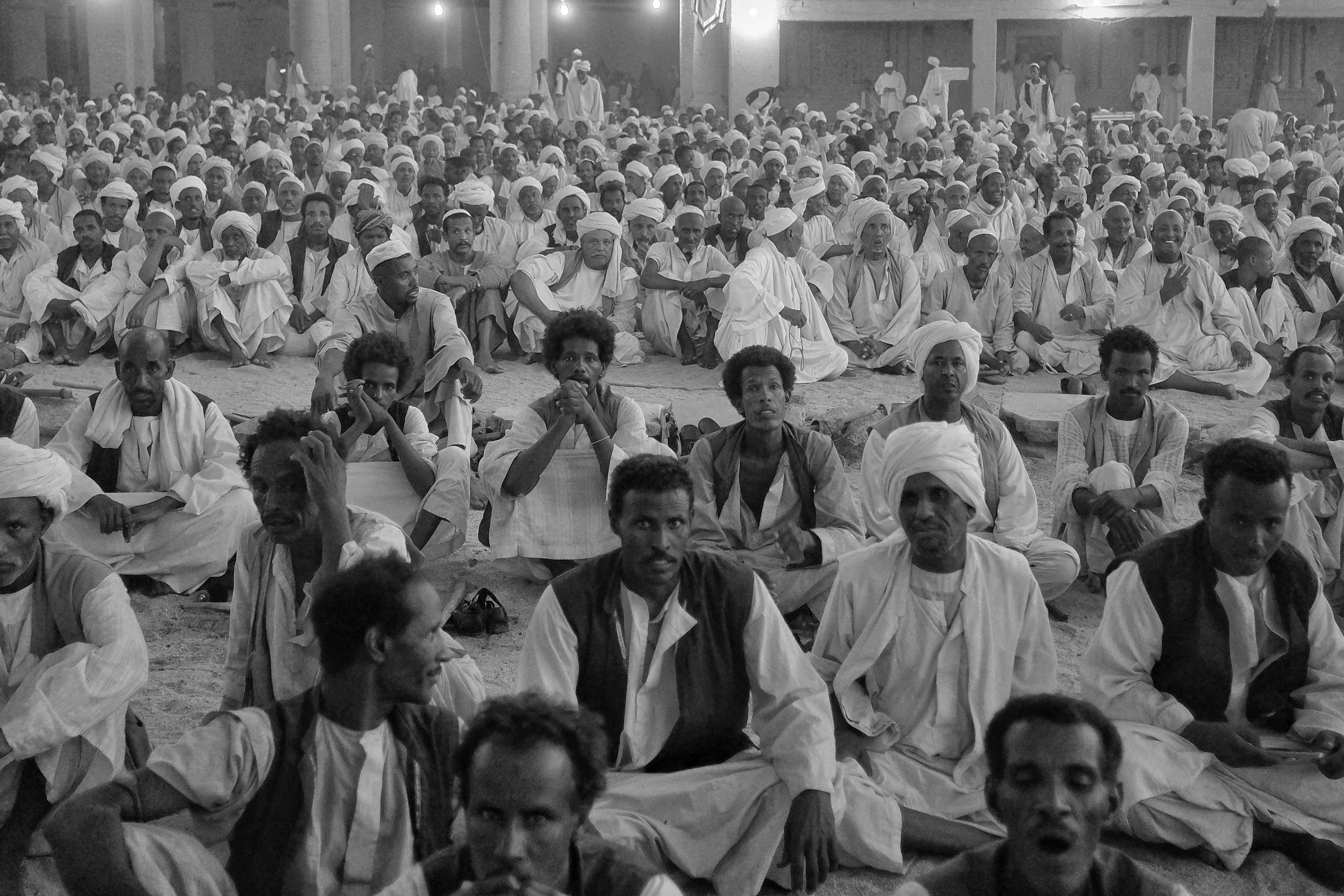 27. Sufis wait for the evening prayers to begin. Kassala. Sudan. 2017