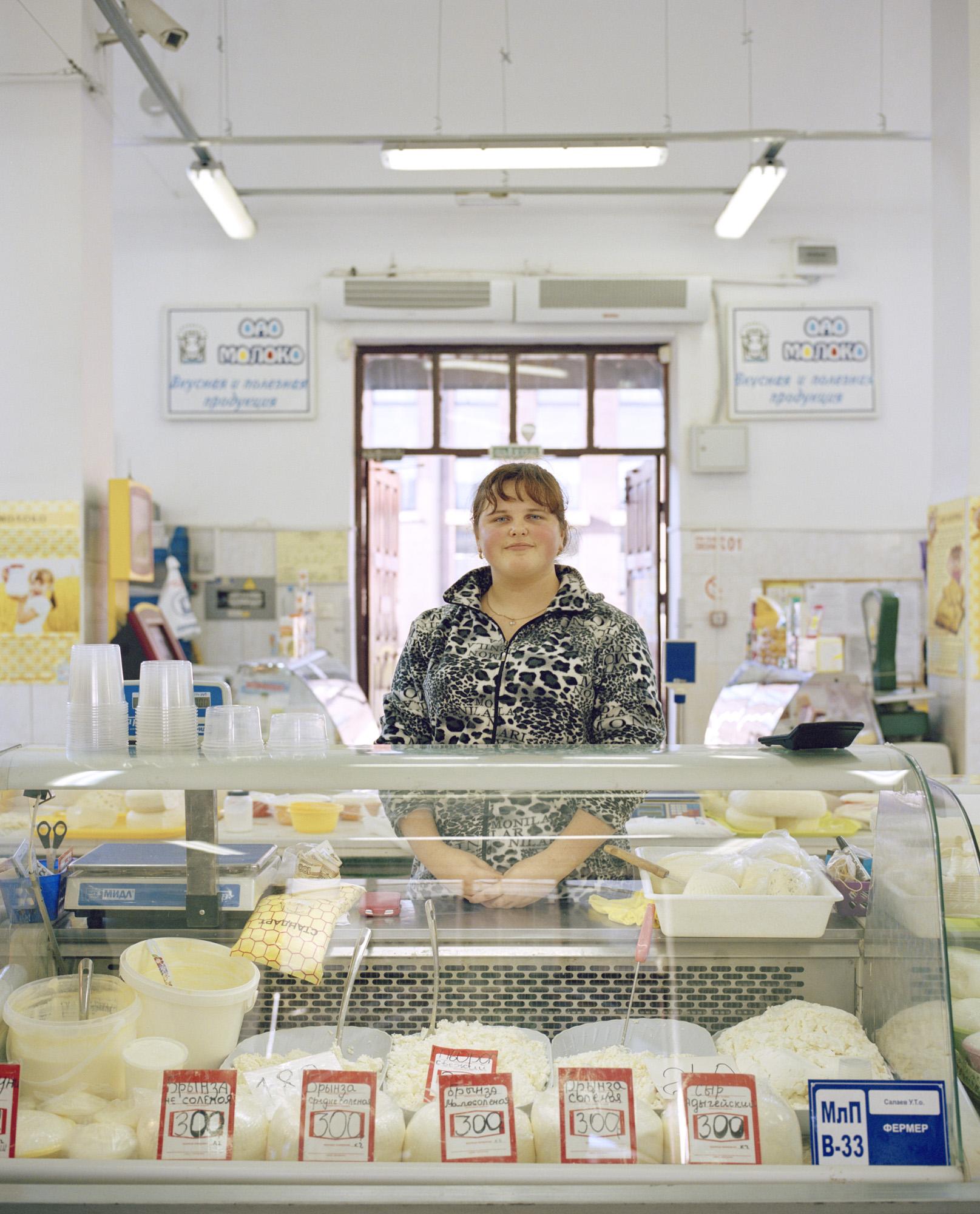 10-Diary procuction sales woman Marina Salajeva, Kaliningrad market